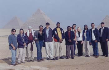 Faculty and Students at Giza Plateau (14kb)