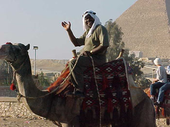 Camel Ride at Giza Plateau (25kb)