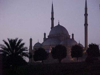 Mohammed Ali Mosque at the Citadel, Cairo (11kb)