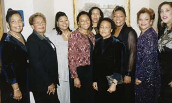Some Black Faculty and Staff at Evening of Elegance (17kb)