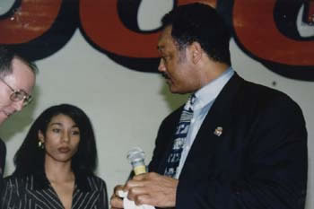 The Rev. Jesse Jackson, Rainbow/Push Organization at Fresno State (12kb)
