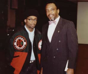 Film Star Spike Lee visiting Fresno State (10kb)