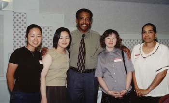 Dr. Jim Walton with some International students from Japan (14kb)