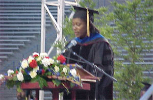 Dr. Sheila Benton, Executive Assistant to the Vice President for Administration, Introduces the Guest Speaker (21kb)