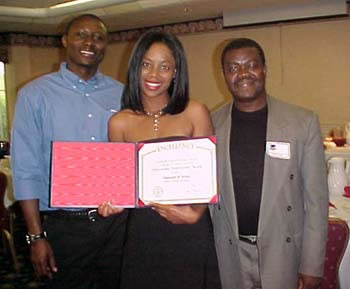 Shauntel (President of ASU) and Maurice (Vice President of ASU) and Yaw (Faculty Advisor, ASU) (19kb)