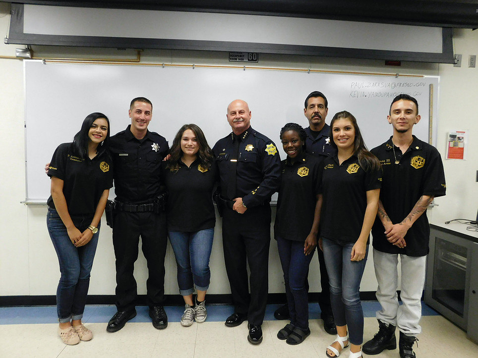 members with Chief of Police Jerry Dyer