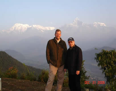 Drs. Urynowicz and Dangi in Nepal
