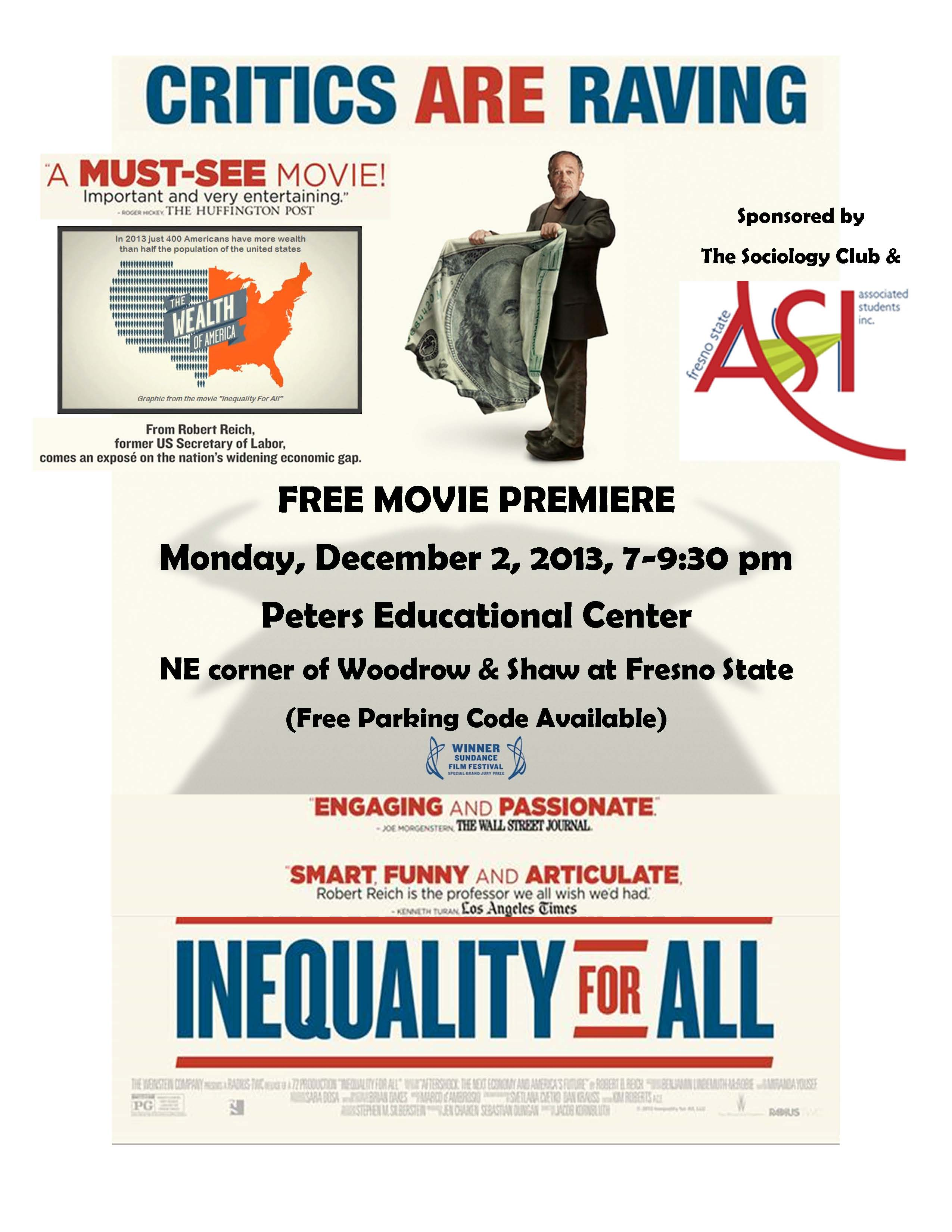 Inequality for All Flier 2013