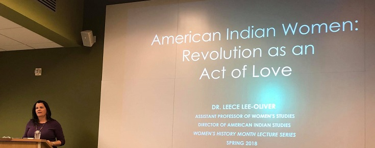 "Dr. Lee-Oliver Presentation ""American Indian Women: Revolution as an Act of Love"""